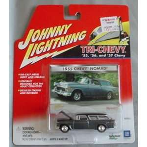 Johnny Lightning Tri Chevy 1955 Chevy Nomad Wagon GRAY Toys & Games