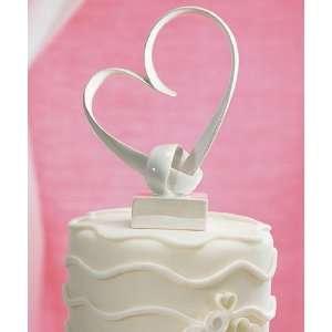 Wedding Cake Topper   My Love Stylized Heart (1 Topper