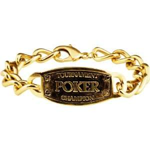 Champion Link Bracelet With Gold Tone Plating, Gold