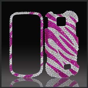 Xtreme Pink Silver Zebra Cristalina crystal bling case