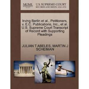 Pleadings (9781270475408) JULIAN T ABELES, MARTIN J SCHEIMAN Books