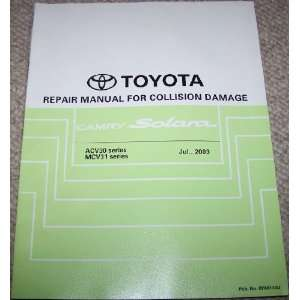 Toyota Camry Solara Repair Manual for Collision Damage