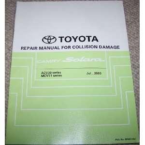 Toyota Camry Solara Repair Manual for Collision Damage