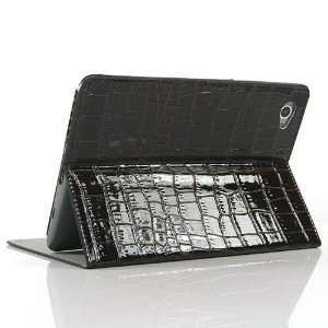 Brown / Crocodile pattern Leather Stand Case for Galaxy Tab GT