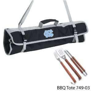 University of North Carolina Printed 3 Piece BBQ Tote BBQ set Black