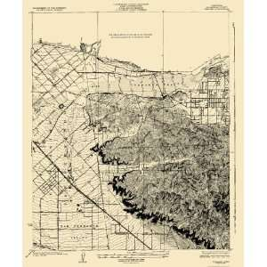 USGS TOPO MAP SUNLAND QUAD CALIFORNIA (CA) 1926