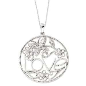 Silver A Gift of Love Family Sentimental Expressions Necklace Jewelry