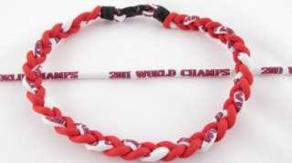 St. Louis Cardinals 2011 World Champs Titanium Baseball Necklace MLB 5