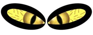 EVIL MONSTER GOLD EYE VINYL DECAL STICKER RC DIECAST #1