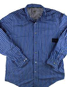 NEW CLUB ROOM MENS BUTTON FRONT SHIRT SIZE L LONG SLEEVE |
