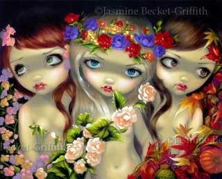 The Three Graces Jasmine Becket Griffith lowbrow fairy fantasy art BIG