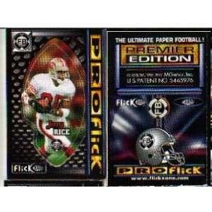 Jerry Rice San Francisco 49ers 1997 Proflick Football Game Card