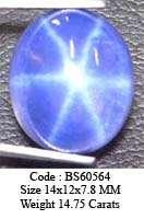 14x12 mm Blue Star Sapphire 6 Rays BS49909 (Lab) VIEW VDO