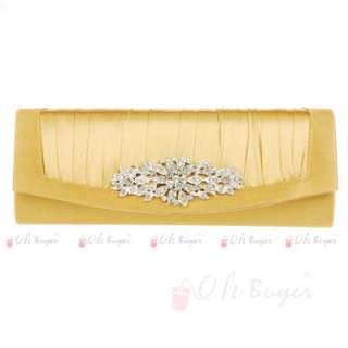 New Elegant womens Wedding Evening Purse bridal Clutch bag with chain