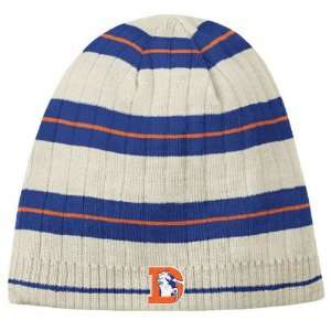 Denver Broncos Reebok Putty Throwback Ribbed Knit Hat