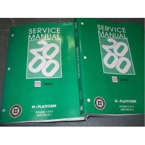 2000 2001 Chevy Chevrolet Geo Metro Service Shop Repair Manual SET