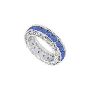 and Diamond Wedding Band  14K White Gold   2.25 CT TGW   Ring Size