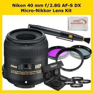 Nikon AF S DX Micro NIKKOR 40mm f/2.8G Lens Kit Includes: Nikon