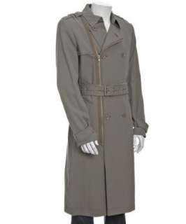 Marc by Marc Jacobs olive cotton blend gabardine military trench coat