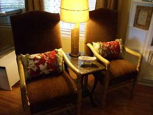 Animal Print High End Decorator CHEETAH ARM CHAIRS *Pair