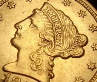 1853 $2 1/2 Liberty Head Gold Coin Quarter Eagle BU MS