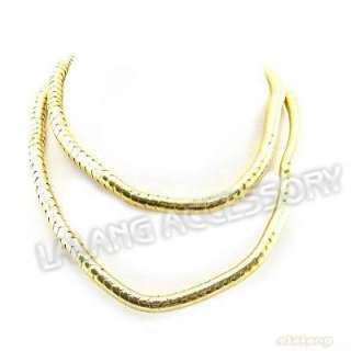 Gold Tone Flexible Snake Chain Necklace 35 200027