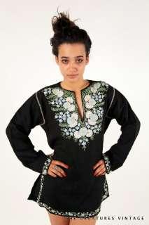Embrodered stella mccartney ESC floral Hippie v neck dress top tunic