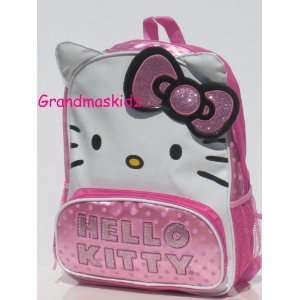 Hello Kitty Face Backpack Pink & White Large Size Polk A