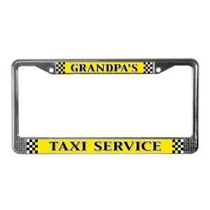 Grandpas Taxi Service Funny License Plate Frame by CafePress: