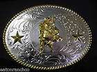Tony Lama German Silver Bull Rider RODEO Belt Buckle