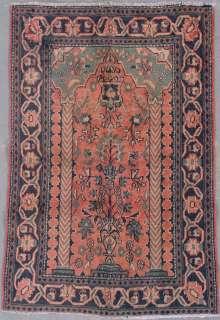 PERSIAN KASHAN VASE ORIENTAL HAND KNOTTED WOOL AREA RUG CARPET