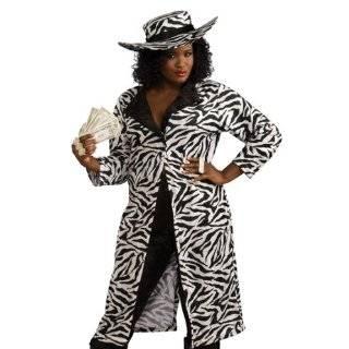 Velvet Zebra Animal Print Pimp Daddy Suit Mens Costume Clothing