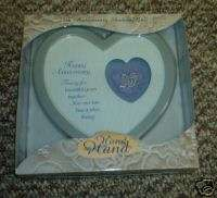 ENESCO 25TH HAPPY ANNIVERSARY HEART SHADOW BOX 25 NEW