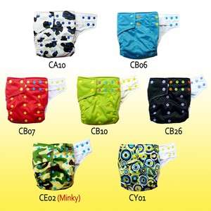 PICK COLORFUL snaps BABY cloth diapers with 2 gussets