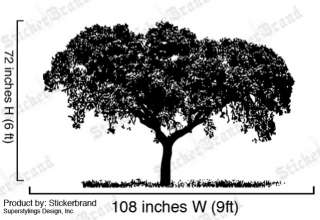 Vinyl Wall Decal Sticker Tree Top LARGE 72x108 6ft Tall