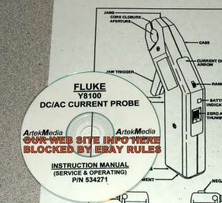 FLUKE Y8100 Instruction (Service & Operating) Manual