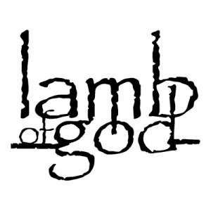 LAMB OF GOD BAND WHITE LOGO DECAL STICKER