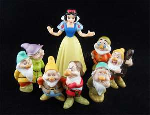 8pcs Snow White and the Seven Dwarfs Figure Set small toy 2~3