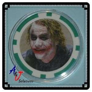 Heath Ledger The Joker Poker Chip Card Guard Protector