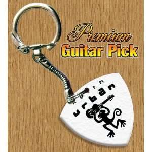 Keith Urban Keyring Bass Guitar Pick Both Sides Printed