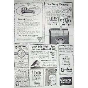 1917 ADVERTISEMENT HUDSON CAR LIVER PILLS IRISH LINEN