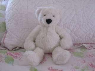 POTTERY BARN KIDS BABY BEAR SOFT TEDDY PLUSH LOVEY GUND WHITE FIRST