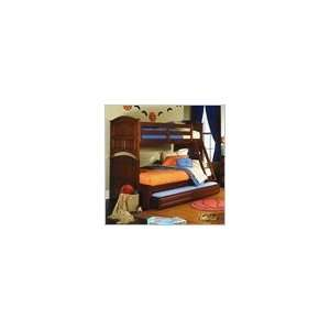 Lea Deer Run Twin Over Full Wood Bunk Bed with Twin Trundle