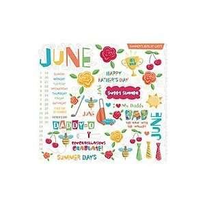 Calendar Rub ons 8x8   June Arts, Crafts & Sewing