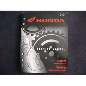 Rancher AT & GPscape New Original Factory Service Manual: Honda Motor