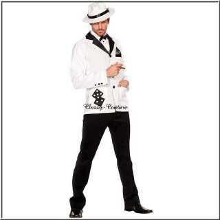 PIMP Gangster VEGAS Mens Fancy Dress Costume  Sz XL/XXL