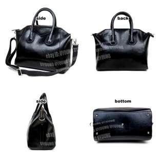 High quality burnished genuine leather womans handbag tote shoulder
