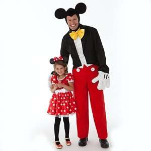 Classic Minnie Mouse Red Sparkle Dress Costume Halloween