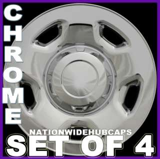 Chrome Wheel Skins 5Spoke Hub Caps Rim Covers Steel Wheels Lug