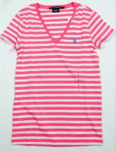 NWT Ralph Lauren Polo Womens SS Pima Vneck T shirt Tee